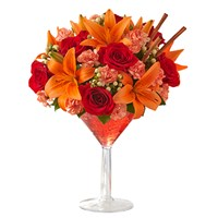 Roses-lilies-daisies-carnations-bouquet-in-a-reusable-martini-glass