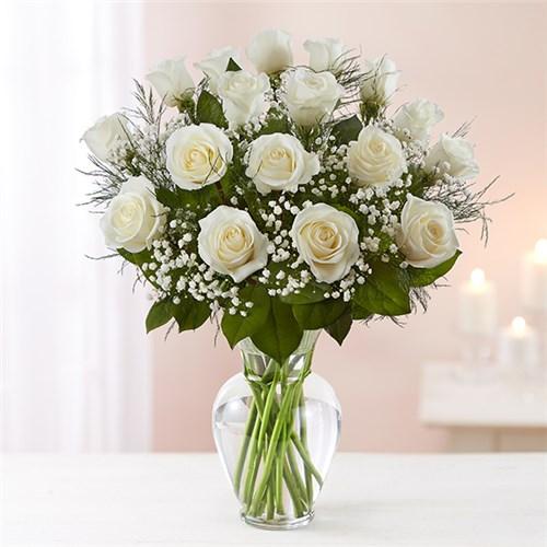 1 800 Flowers Rose Elegance Premium Long Stem White Roses