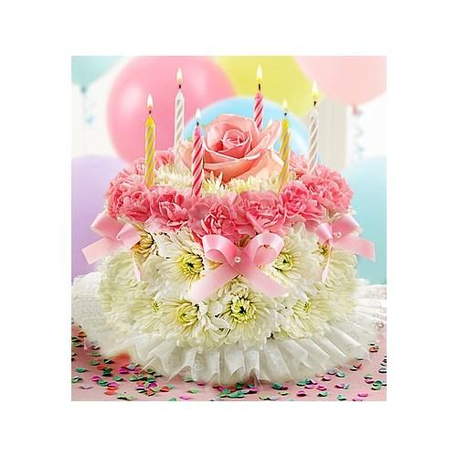 Birthday Flower CakeR Pastel